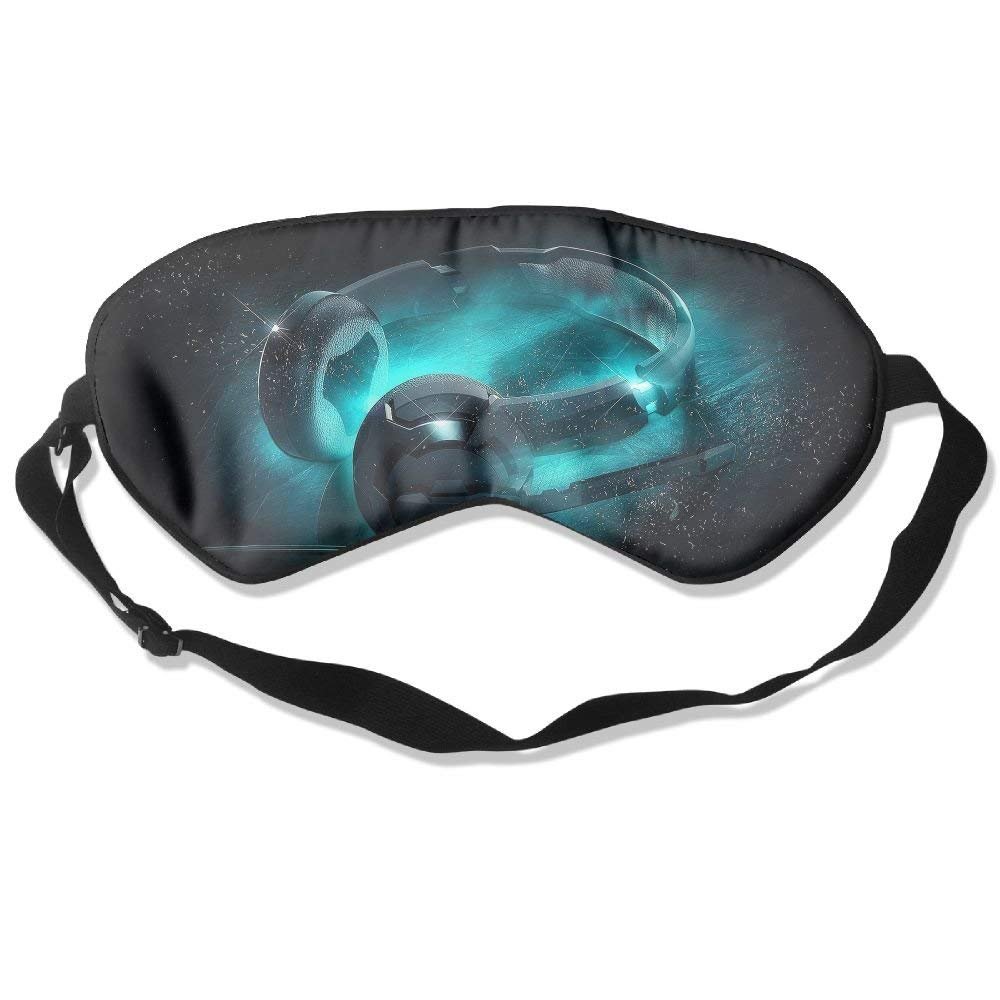 Madge Kelley Eye Mask Adjustable-Strap Eyeshade Sleeping Mask Skin-Friendly Headphone Dark Night Sleep Travel
