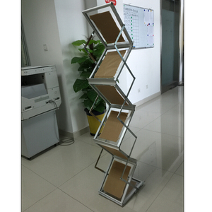 Portable brochure holder,literature display rack A4 size acrylic pop up stand
