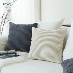 Latest Design 100% cotton Solid Color streak Sofa Pillow Velvet Cushion Cover