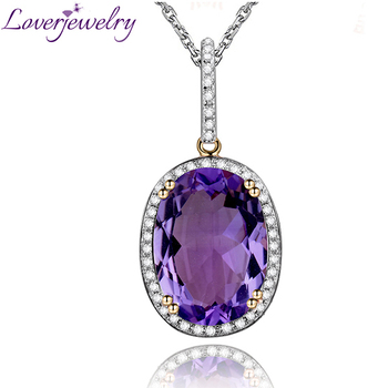 566ct oval amethyst pendantnatural diamond amethyst gold pendant 566ct oval amethyst pendantnatural diamond amethyst gold pendant in solid 14kt yellow gold mozeypictures Gallery