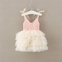 Baby Princess Dress Tutu Girls tiered Lace Dress Toddler Summer Clothing Birthday Party Clothing