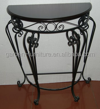 Iron Table,Half Round Console Table,Wrought Iron Indoor Furniture   Buy  Indoor Furniture,Iron Indoor Furniture,Wrought Iron Indoor Furniture  Product On ...