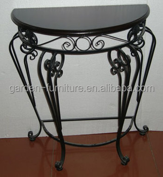 Iron Table Half Round Console Table Wrought Iron Indoor Furniture