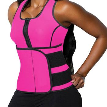 43e8d2822b Women Slimming Body Shaper Top Workout Neoprene Sauna Vest with Adjustable  Waist Trainer Shapewear Control Tummy
