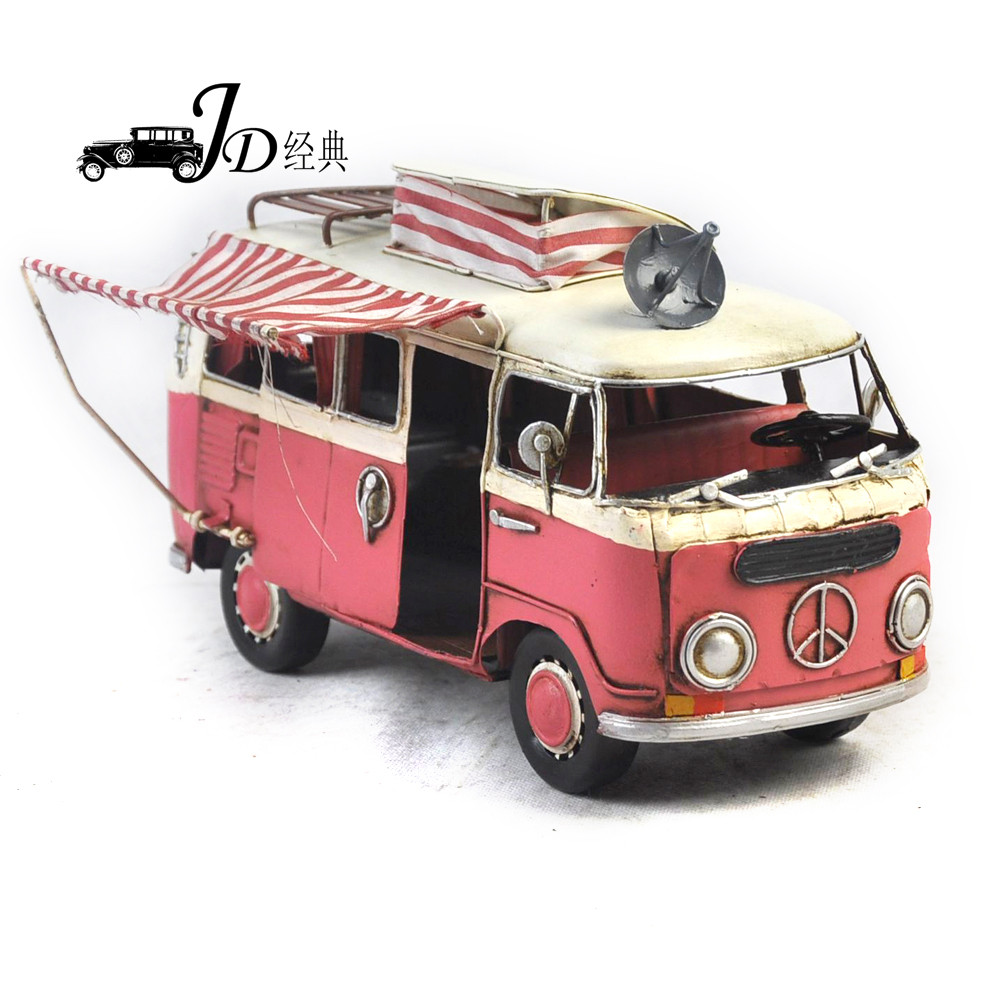 Wholesale 1966 Volkswagen Deluxe Bus Classic Car Model <strong>Craft</strong> JLBS3291-PK