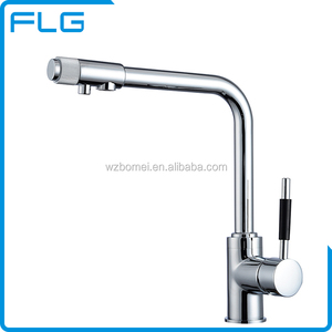 3 Way Brass Chrome Polished Top faucet kitchen sink