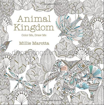 2016 Hot Sale Wholesale Animal Kingdom Coloring Book For Adult