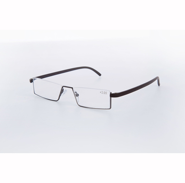 ZHAOMING High Quality Antifatigue TR90 Portable Reading Glasses for Women Men Half Frame Reading Glasses 1.5 2.0 2.5 3.0 3.5