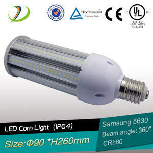 2700-6000K 60W led corn bulbs 130 lm/w with DLC CE ROHS use in outdoor lighting