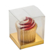 Cheap custom mini single clear pvc plastic cupcake box