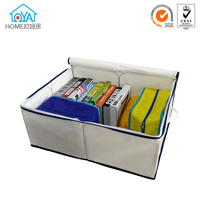 Space saver foldable zipper storage organizer bags