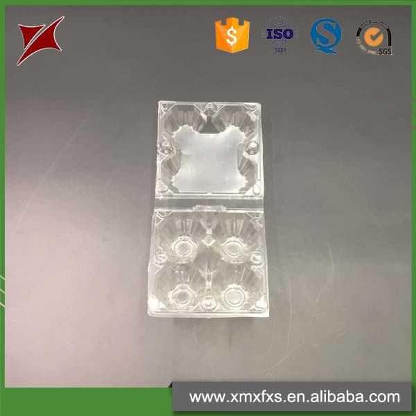 Factory Direct Sell 4 holes disposable PET Blister Chicken Egg Tray Egg Packaging Carton