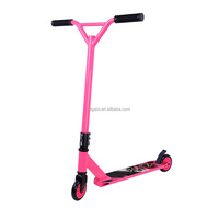2016 New arrival 2 wheels pink stunt kick scooter