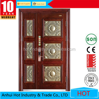 New Model Main Safety Door Design With Grill, Alibaba Stainless Steel  Safety Door Price
