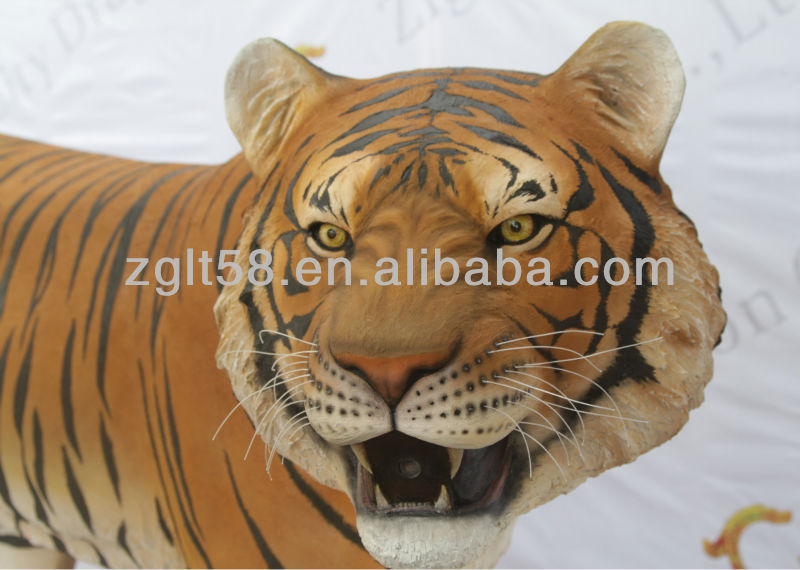 2014 New Hot sale theme park fiberglass tiger animal statues