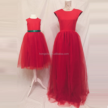 d9b0829d09 Christmas Party Mother Daughter Matching Dress Mommy And Me Tutu Dress  HSd5055