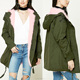 winter women faux fur parka coat