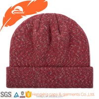 High Quality Red 100 Wool Warm Knitted Long Baby Beanie Hat/Baby Winter Hat