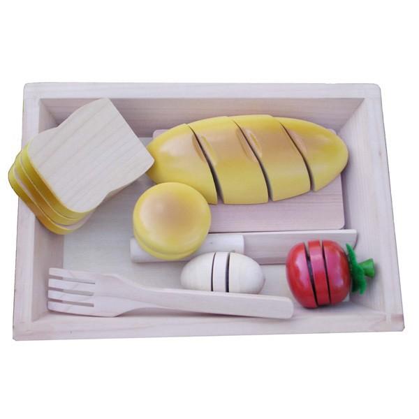 Kinderen fantasiespel keuken klittenband houten snijden van ...