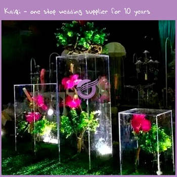K8848 2016 Kaiqi Acrylic Vase Centerpieces Floral Stand With Acrylic