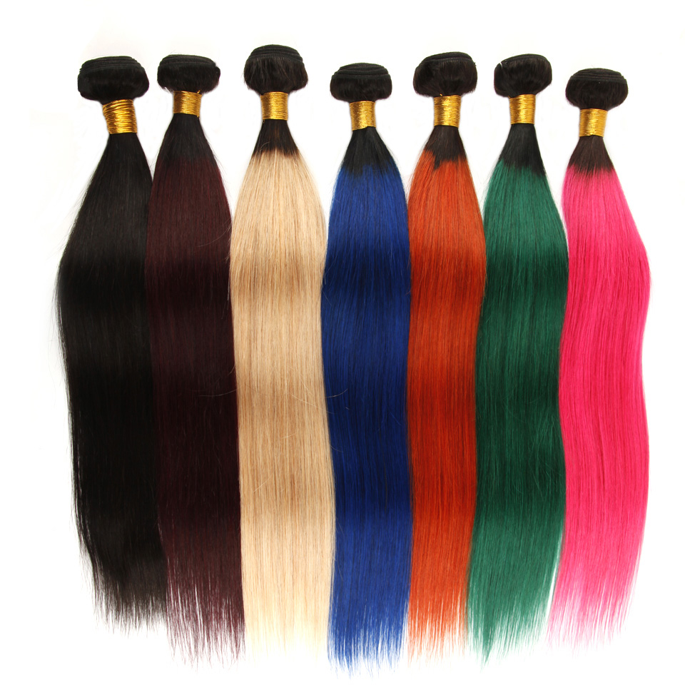 LSY New color ombre human hair extension,two tone brazilian vrigin human ombre hair weaves, sew in human hair weave ombre hair фото