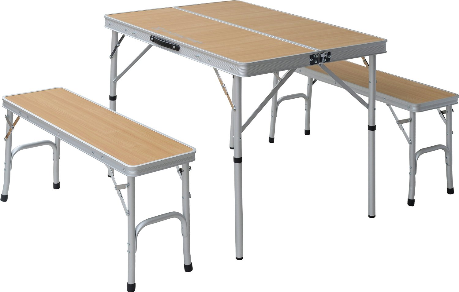 TENT FACTORY (tent factory) Dual table separate set Natural table (90 ~ 65 ~ 68 (35) cm) chair (87 ~ 25 ~ 40cm) ~ 2 leg TF-DFS9065-3-NA