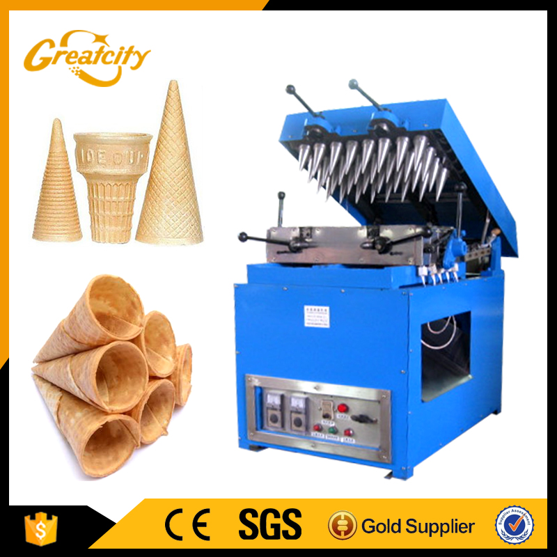 Size adjustable with the ice cream cones making machine DST series