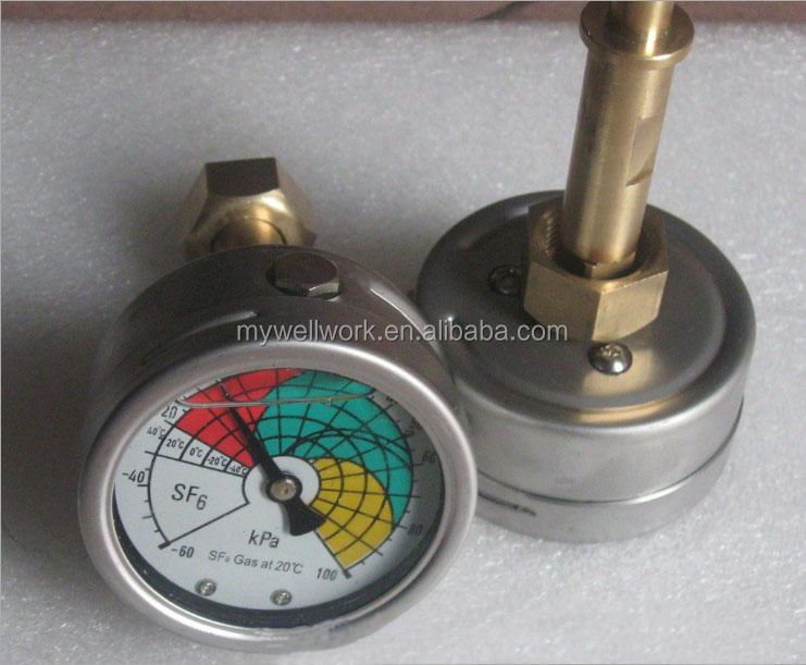 supplier SF6 Gas Density Indicator with Indication air pressure gauge