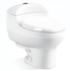 Economic Shiphonic Jet Flushing One-piece Ceramic Toilet