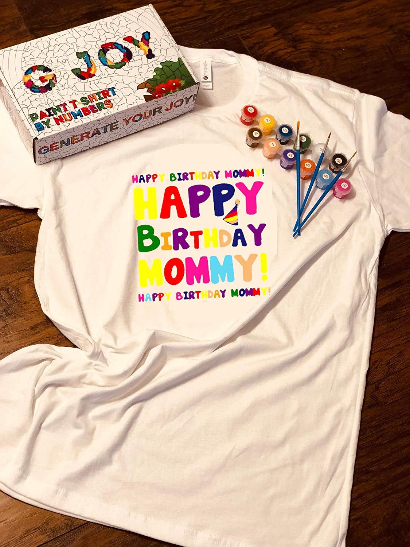 Get Quotations G JOY Handmade Art Gift DIY Kits Paint By Numbers Unisex Child T Shirt Next