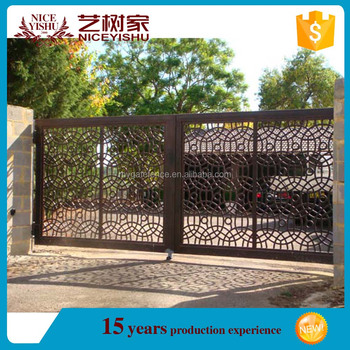 Indian Latest Alibaba Artistic Front Steel Gates Grill Design/ New Luxury  Outdoor Decorative Garden Main Aluminum Gate - Buy Steel Gates Grill