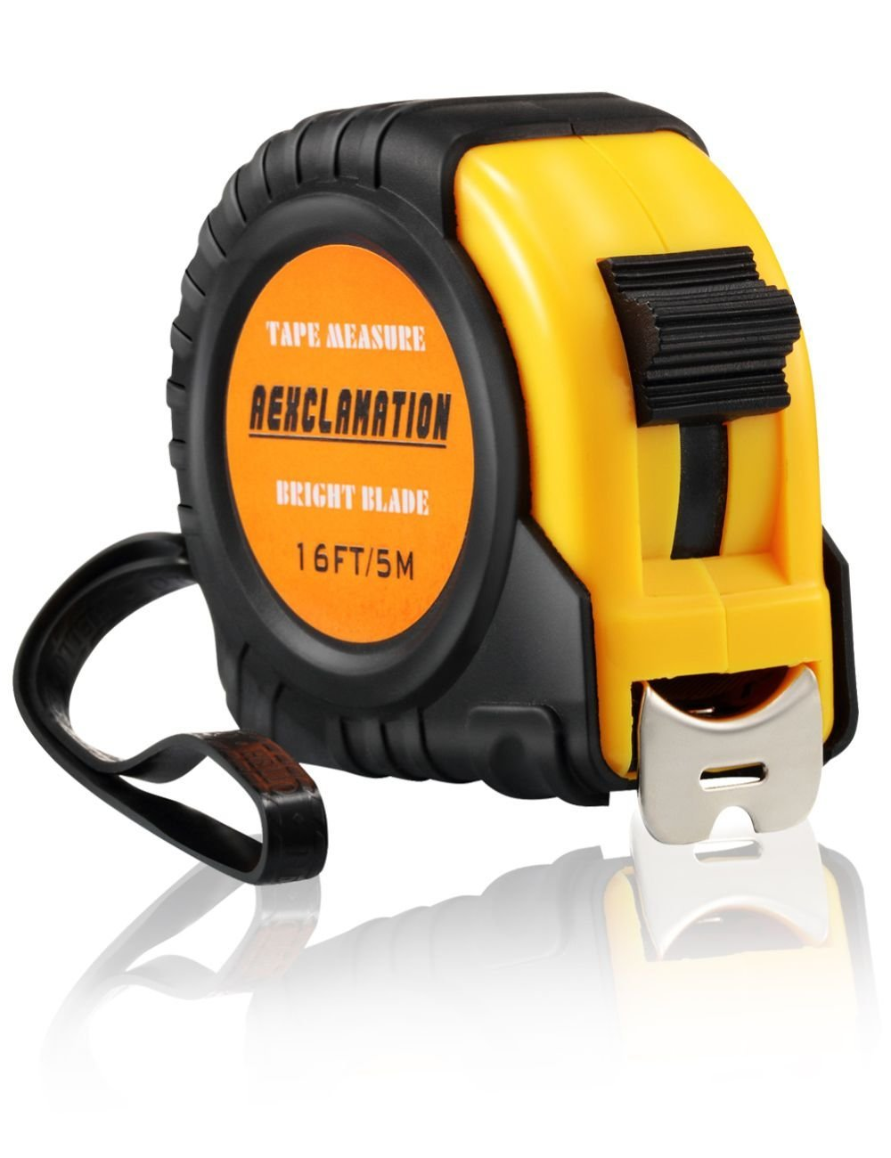 Measuring Tape Metric and Inches, Tape Measure Retractable with Easy Read Numbers, Bright Blade, 16Ft/5M Measuring Tape Ruler for Engineers, Construction, Outdoor AEXCLAMATION