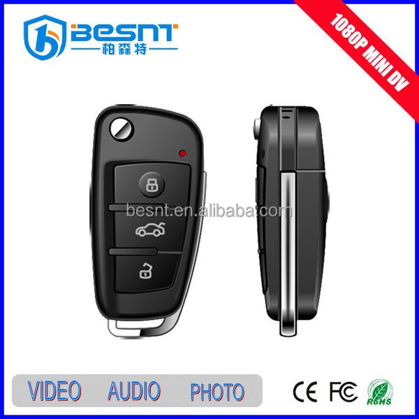 memory card supported camera in car key, security digital HD 1080P sale wireless hidden camera BS-S820