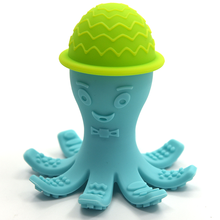 BPA Free Baby Silicone Teether Octopus Bath Toy For Baby Teething Toy