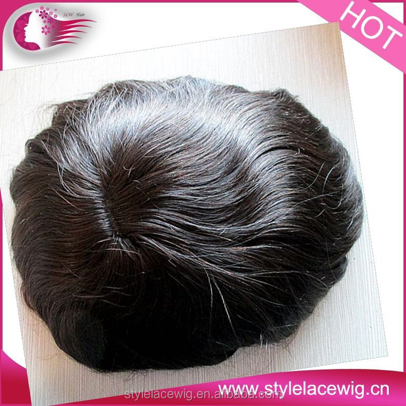 natural looking breathable Mono base hair pieces,100% Indian human hair natural toupee