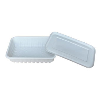 OEM eco-friendly 750ml disposable dinnerware cornstarch lunchbox with lids wholesale