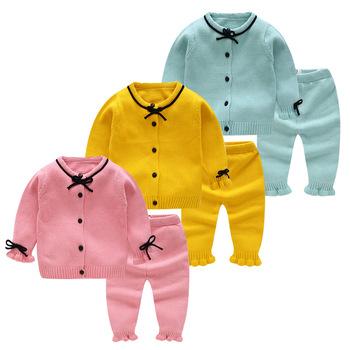 df760bc65 Cute Cotton Children Pants Set Baby Girls Christmas Knitting ...