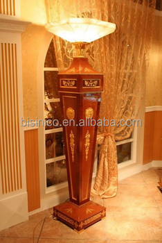 electric wooden stand floor lamp living room decorative furniture bf02 6049 - Standing Lamp Living Room