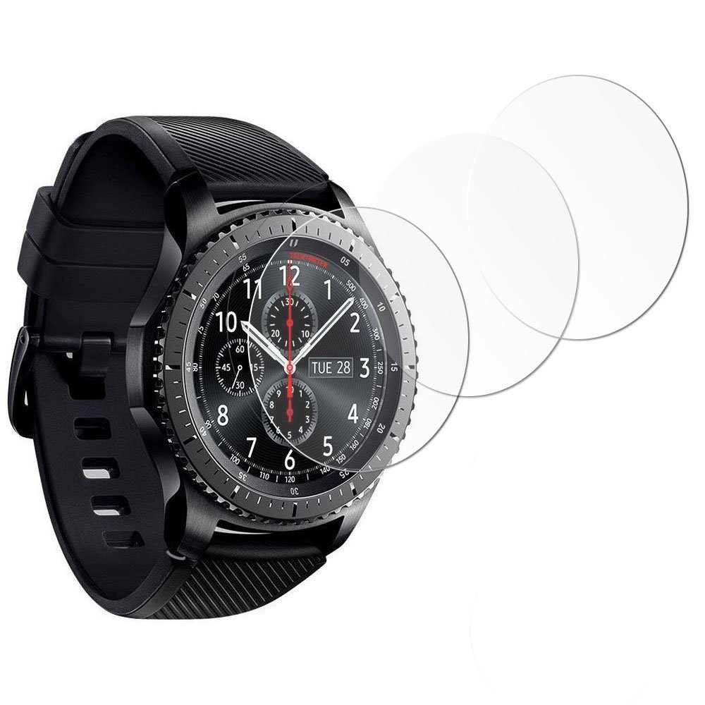 [3-Pack] Gzerma for Samsung Gear S3 Frontier Screen Protector, [Full Coverage] [Scratch Proof] [No-Bubble] [Crystal Clear] Soft TPU Durable Protective Saver for Samsung Gear S3 Classic Smart Watch