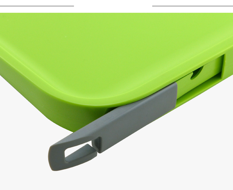 Green Color 2 set Plastic Chopping Board With Paring Knife