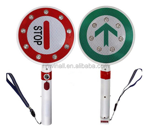 led light remote control hand held international traffic portable stop signs