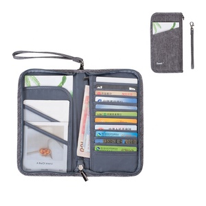 Card Gift Cash Tickets Pen Case Travel Document Organizer Offical Passport Holder Cover Wallet Oxford Credit Card Holder