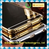 Metal Gold Bumper Case For iPhone 6 Bling Bling Mirror stainless steel Back Case Cover Bumper For iPhone 6