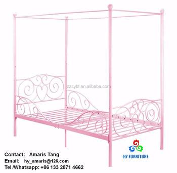 Erwachsene Kinder Prinzessin Schlafzimmer Möbel Schmiedeeisen Metall  Himmelbetten