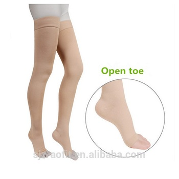 2018 New design High quality Graduated Compression Elastic Support Thigh Stocking,medical socks