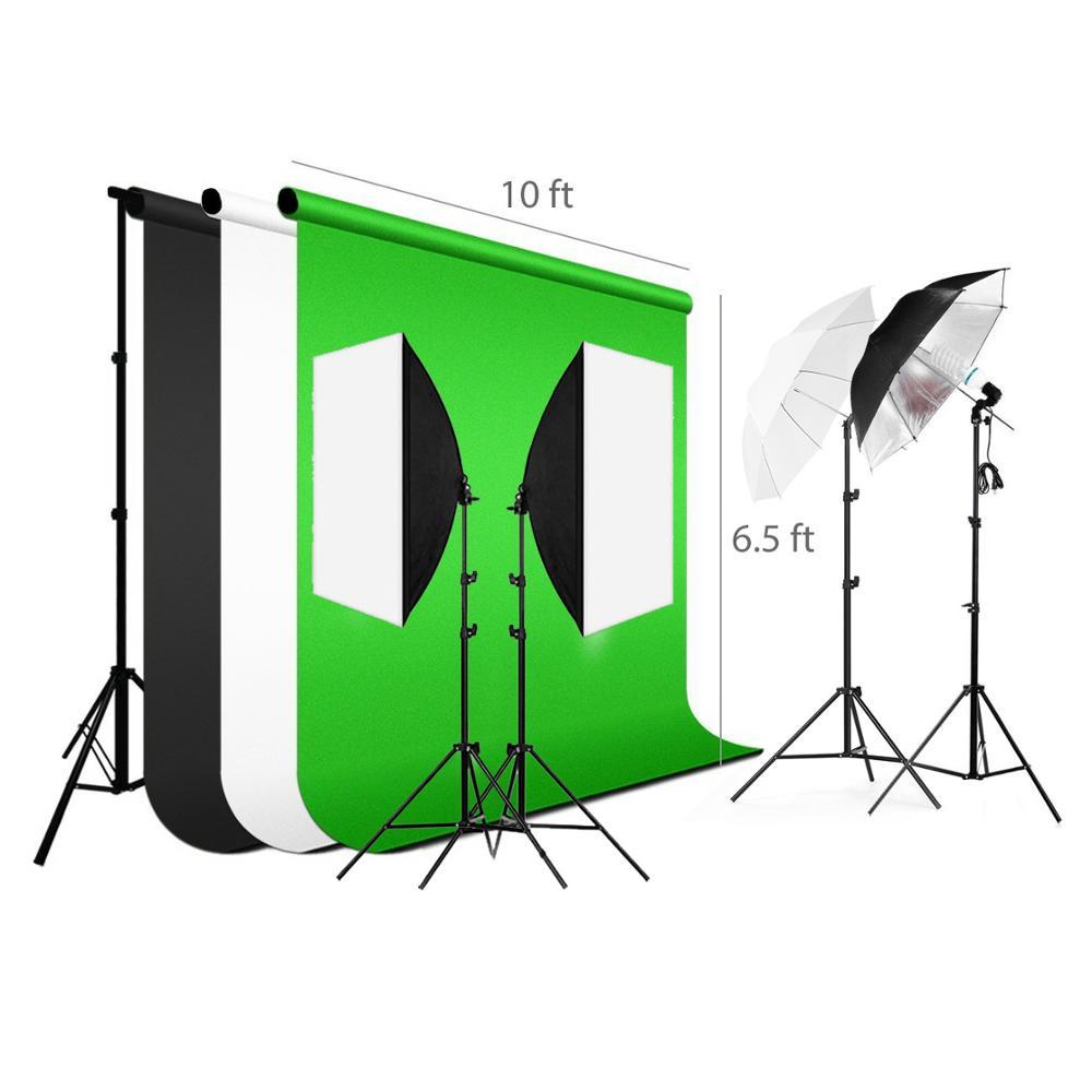 Photographic Softbox Backdrop Light Stand Soft light Umbrella/Reflector Photo Video Full Studio Background Lighting Stand Kit