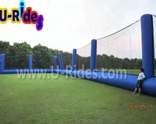 Bule color Oxford paintball nets inflatable paintball field netting