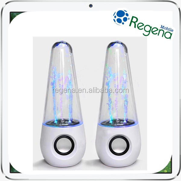 Hot Sale LED Light Water Dancing Speakers Musical Fountain Speaker Voice Box for Smartphone