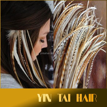 Wholesale Grizzly Solid Feathers Hair Extensions Browns Feather hair extension