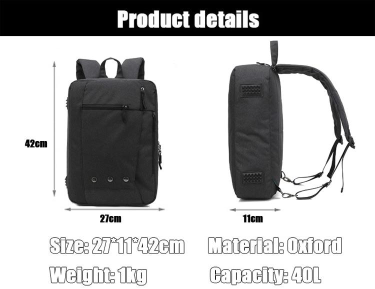 High quality multipurpose mens waterproof school backpack laptop custom rucksack